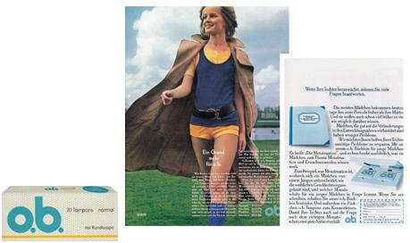 """o.b.® tamponger historie - o.b.® utvikler """"Mini""""-tampongen (1972)"""